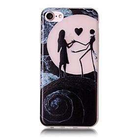 olcso iPhone tokok-Case Kompatibilitás Apple iPhone 7 / iPhone 7 Plus / iPhone 6 Foszforeszkáló / Minta Fekete tok Szexi lány Puha TPU mert iPhone 7 Plus / iPhone 7 / iPhone 6s Plus