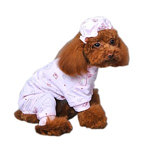 Недорогие Одежда и аксессуары для кошек-Кошка Собака Комбинезоны Пижамы  Одежда для собак Мультипликация Желтый 407cfd2825450