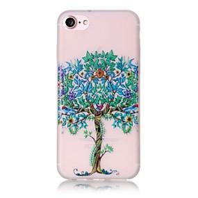 olcso iPhone tokok-Case Kompatibilitás Apple iPhone 7 / iPhone 7 Plus / iPhone 6 Kártyatartó / Foszforeszkáló / Minta Héjtok Fa Kemény TPU mert iPhone 7 Plus / iPhone 7 / iPhone 6s Plus
