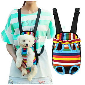 cheap Pet Supplies-Cat Dog Carrier & Travel Backpack Front Backpack Pet Baskets Stripes Portable Breathable Stripe For Pets