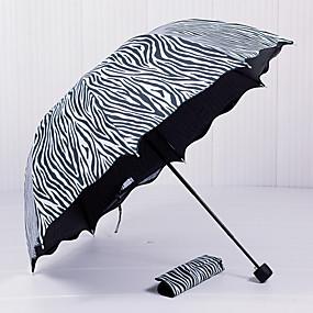 Недорогие Защита от дождя-пластик Муж. / Жен. / Девочки Зонт от солнца Складные зонты