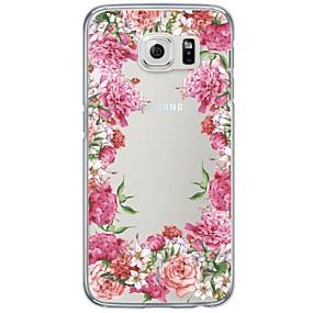 voordelige Galaxy S6 Edge Plus Hoesjes / covers-hoesje Voor Samsung Galaxy S7 edge / S7 / S6 edge plus Ultradun / Doorzichtig Achterkant Bloem Zacht TPU