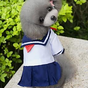 7685f7fe05cb Χαμηλού Κόστους Ρούχα και αξεσουάρ για γάτες-Γάτα Σκύλος Στολές Φορέματα  Ρούχα για σκύλους Ναυτικό