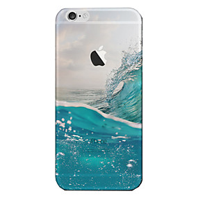 abordables Coques d'iPhone-Coque Pour Apple iPhone 8 / iPhone 8 Plus / iPhone 7 Translucide Coque Paysage Flexible TPU pour iPhone 8 Plus / iPhone 8 / iPhone 7 Plus
