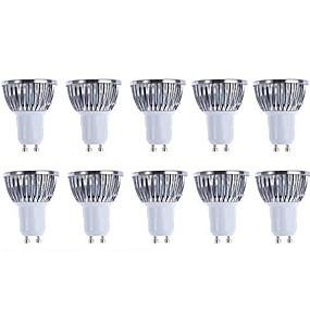 tanie Oświetlenie profesjonalne-5 W 3000/6500 lm GU10 Żarówki punktowe LED 4 Koraliki LED COB Przygaszanie Ciepła biel / Biały 220-240 V / 110-130 V / 10 szt. / RoHs