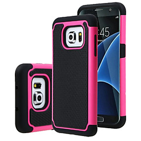 Недорогие Чехлы и кейсы для Galaxy S5 Mini-Кейс для Назначение SSamsung Galaxy S7 edge / S7 / S6 edge plus Защита от удара Кейс на заднюю панель броня ПК