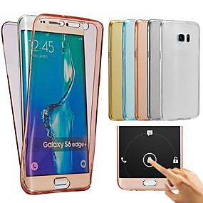 voordelige Galaxy Ace 4 Hoesjes / covers-hoesje Voor Samsung Galaxy J7 (2016) / J7 / J5 (2016) Transparant Volledig hoesje Effen Zacht TPU