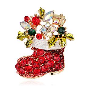 abordables Bijoux de Noël-Femme Broche Croix dames Mode Broche Bijoux Arc-en-ciel Pour Soirée Occasion spéciale Anniversaire Cadeau Quotidien Décontracté