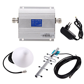 cheap Mobile Signal Boosters-New LCD GSM 900MHz Cell Phone Signal Booster Amplifier + Antenna Kit