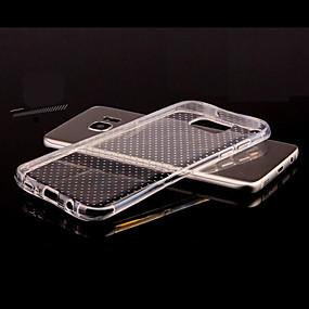 voordelige Galaxy S7 Edge Hoesjes / covers-hoesje Voor Samsung Galaxy S8 Plus / S8 / S7 edge Transparant / Reliëfopdruk Achterkant Effen TPU