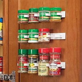 ieftine Stocare și Organizare-bucătărie sticlă condiment organizator rack dulap spice clipuri usa 20-clip set