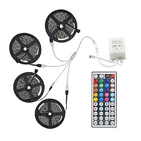ieftine Benzi Lumină LED-20m seturi de lumină 600 leduri 5050 smd 10mm rgb telecomandă / rc / cuttable / dimmable / linkable / potrivit pentru vehicule / autoadeziv / schimbătoare de culori / ip44