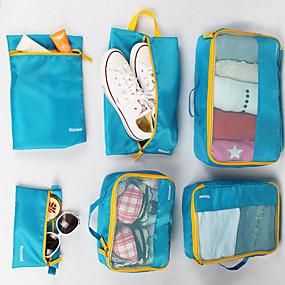 ieftine Accesorii de Călătorie-6 seturi Geantă Călătorie / Organizator de călătorii / Organizator Bagaj de Călătorie Capacitate Înaltă / Impermeabil / Portabil Haine Material net Călătorie / Durabil / Fermoar cu două fețe