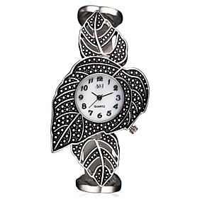 voordelige Merk Horloge-ASJ Dames Polshorloge Japans Kwarts Titanium 30 m Waterbestendig Stootvast Analoog Dames Amulet Luxe Bladeren Vintage - Wit