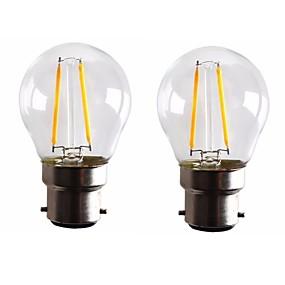 ieftine Lămpi Cu Filament LED-ONDENN 2pcs 2 W Bec Filet LED 160-200 lm B22 G45 2 LED-uri de margele COB Intensitate Luminoasă Reglabilă Alb Cald 220-240 V 110-130 V / 2 bc / RoHs