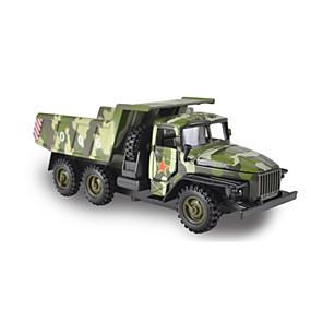 رخيصةأون ألعاب السيارات-سيارة حربية شاحنة قلابة لعبة الشاحنات ومركبات البناء لعبة سيارات سيارات السحب 1:10 حداثة المعدنية للأطفال للصبيان للفتيات ألعاب هدية