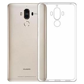 voordelige Huawei Honor hoesjes / covers-hoesje Voor Huawei Honor 6X / Mate 9 / Huawei Enjoy 6s Stofbestendig / Ultradun / Transparant Achterkant Effen Zacht TPU
