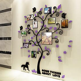 Χαμηλού Κόστους Διακοσμητικά αυτοκόλλητα-Αυτοκόλλητα Φωτογραφίας - 3D Αυτοκόλλητα Τοίχου Βοτανικό Σαλόνι / Υπνοδωμάτιο