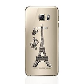 voordelige Galaxy S6 Edge Plus Hoesjes / covers-hoesje Voor Samsung Galaxy S7 edge / S7 / S6 edge plus Transparant / Patroon Achterkant Eiffeltoren Zacht TPU