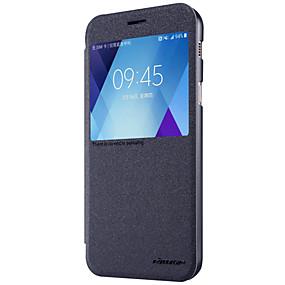 billige Nliikin®-Nillkin Etui Til Samsung Galaxy A5(2017) / A3(2017) Med vindue / Flip / Syrematteret Fuldt etui Ensfarvet Hårdt PU Læder for A3 (2017) / A5 (2017) / A7 (2017)