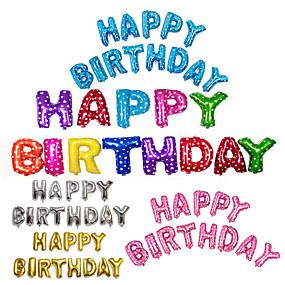 economico Decorazioni e forniture per feste-13 pz / set 16 pollici buon compleanno alfabeto lettera palloncini multicolore stagnola palloncini festa