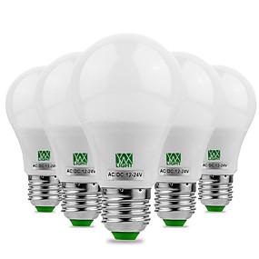 ieftine Becuri LED Glob-ywxlight® 5pcs e27 / e26 5730smd 5watts 10led alb cald alb răcoros a condus nu flicker luminozitate ridicată condus bec 12v 12-24v