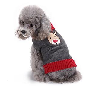 599a547c79fe Χαμηλού Κόστους Χριστουγεννιάτικα κοστούμια για κατοικ-Γάτα Σκύλος Πουλόβερ  Χριστούγεννα Ρούχα για σκύλους Τάρανδος Γκρίζο