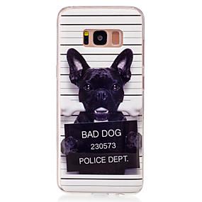 voordelige Galaxy S7 Hoesjes / covers-hoesje Voor Samsung Galaxy S8 / S7 edge / S7 IMD / Patroon Achterkant Hond Zacht TPU