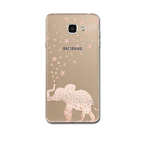 voordelige Galaxy A7(2016) Hoesjes / covers-hoesje Voor Samsung Galaxy A3 (2017) / A5 (2017) / A7 (2017) Ultradun / Patroon Achterkant Olifant Zacht TPU