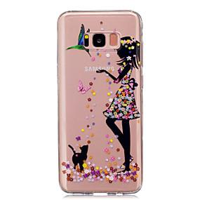 Недорогие Чехлы и кейсы для Galaxy S5 Mini-Кейс для Назначение SSamsung Galaxy S8 Plus / S8 / S5 Mini IMD / Прозрачный / С узором Кейс на заднюю панель Соблазнительная девушка Мягкий ТПУ