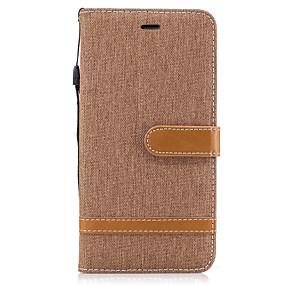 halpa iPhone 5S / SE kotelot-Etui Käyttötarkoitus Apple iPhone X / iPhone 8 Lomapkko / Korttikotelo / Tuella Suojakuori Yhtenäinen Kova tekstiili varten iPhone X / iPhone 8 Plus / iPhone 8