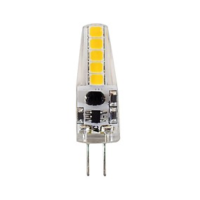 abordables Luces LED de Doble Pin-2 W Luces LED de Doble Pin 180-200 lm G4 T 10 Cuentas LED SMD 2835 Decorativa Blanco Natural 12 V / 1 pieza / Cañas