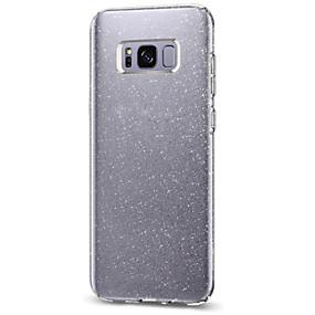 halpa Galaxy S -sarjan kotelot / kuoret-Etui Käyttötarkoitus Samsung Galaxy S8 Plus / S8 IMD Takakuori Kimmeltävä Pehmeä TPU varten S8 Plus / S8