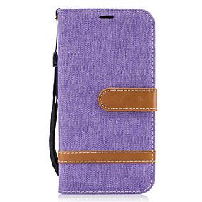 voordelige Galaxy A3(2016) Hoesjes / covers-hoesje Voor Samsung Galaxy A5(2017) / A3(2017) Portemonnee / Kaarthouder / met standaard Volledig hoesje Lijnen / golven Hard tekstiili voor A3 (2017) / A5 (2017) / A5(2016)