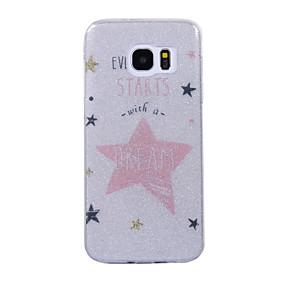 halpa Galaxy S -sarjan kotelot / kuoret-Etui Käyttötarkoitus Samsung Galaxy S8 Plus / S8 IMD / Kuvio Takakuori Sana / lause / Kimmeltävä Pehmeä TPU varten S8 Plus / S8 / S7 edge