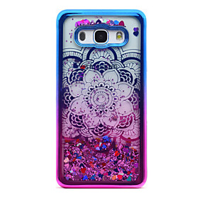 voordelige Galaxy J3 Hoesjes / covers-hoesje Voor Samsung Galaxy J5 (2016) / J3 (2016) / J3 Beplating / Stromende vloeistof / Transparant Achterkant Mandala / Glitterglans Zacht TPU