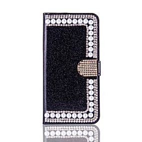 levne iPhone pouzdra-Carcasă Pro Apple iPhone X / iPhone 8 Peněženka / Pouzdro na karty / S kamínky Celý kryt Pevné pro iPhone X / iPhone 8 Plus / iPhone 8