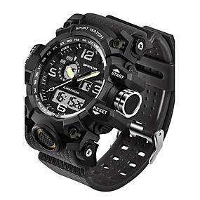 Недорогие Фирменные часы-SANDA Муж. Спортивные часы Смарт Часы Наручные часы Японский Цифровой силиконовый Черный / Белый / Коричневый 30 m Защита от влаги LED С двумя часовыми поясами Аналого-цифровые Мода - / Два года