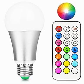 levne LED Smart žárovky-1ks 10 W LED chytré žárovky 800 lm E26 / E27 A60(A19) 1 LED korálky Integrovaná LED Stmívatelné Dálkové ovládání Ozdobné RGBW RGBWW 85-265 V / 1 ks / RoHs