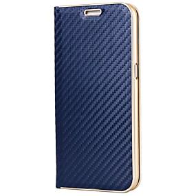 halpa Galaxy S -sarjan kotelot / kuoret-Etui Käyttötarkoitus Samsung Galaxy S8 Plus / S8 Korttikotelo / Tuella / Magneetti Suojakuori Yhtenäinen Kova Hiilikuitu varten S8 Plus / S8 / S7 edge