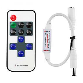 Недорогие RGB контроллеры-hkv® mini rf беспроводной диммер светодиодный пульт дистанционного управления 11keys для светодиодной подсветки