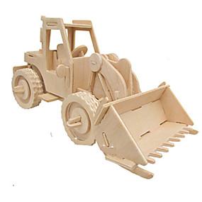 olcso Játékok & hobbi-3D építőjátékok Fejtörő Wood Model Autó DIY tettetés Fa Klasszikus Munkagépek Gyermek Felnőttek Uniszex Fiú Lány Játékok Ajándék