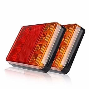 voordelige Auto-achterverlichting-Ziqiao 2 stks draad verbinding 1.5 w smd led 720lm 8 leds auto vrachtwagen achterlicht waarschuwingslichten achterlampen waterdichte achterlichten achter onderdelen voor trailer truck boot dc 12 v