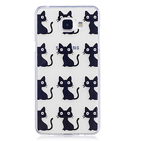 voordelige Galaxy A3(2016) Hoesjes / covers-hoesje Voor Samsung Galaxy A3 (2017) / A5 (2017) / A5(2016) IMD / Transparant / Patroon Achterkant Kat Zacht TPU