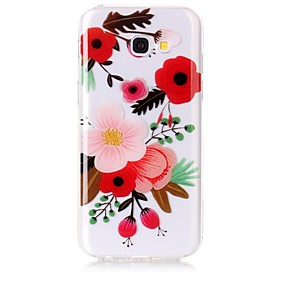 voordelige Galaxy A3(2016) Hoesjes / covers-hoesje Voor Samsung Galaxy A5(2017) / A3(2017) IMD / Transparant / Patroon Achterkant Bloem Zacht TPU voor A3 (2017) / A5 (2017) / A5(2016)