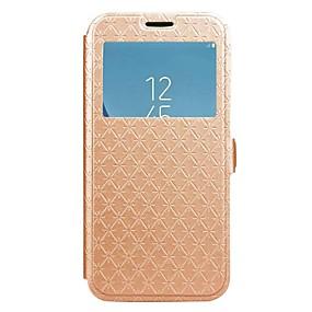 voordelige Galaxy J3(2017) Hoesjes / covers-hoesje Voor Samsung Galaxy J7 Prime / J7 (2017) / J7 (2016) Portemonnee / Kaarthouder / met standaard Volledig hoesje Effen Hard PU-nahka