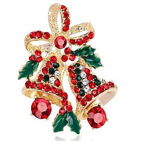 abordables Bijoux de Noël-Femme Diamant synthétique Broche Fleur dames Broche Bijoux Dorée Argent Pour Noël