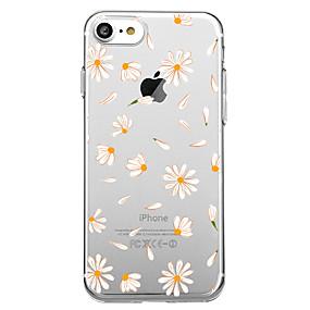 levne iPhone pouzdra-Carcasă Pro Apple iPhone X / iPhone 8 Vzor Zadní kryt Kachlička / Květiny Měkké TPU pro iPhone X / iPhone 8 / iPhone 7 Plus