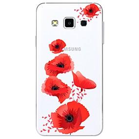 voordelige Galaxy A8 Hoesjes / covers-hoesje Voor Samsung Galaxy A3 (2017) / A5 (2017) / A7 (2017) Patroon Achterkant Bloem Zacht TPU