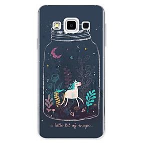 voordelige Galaxy A8 Hoesjes / covers-hoesje Voor Samsung Galaxy A3 (2017) / A5 (2017) / A7 (2017) Patroon Achterkant Eenhoorn / Cartoon Zacht TPU